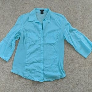 Ann Taylor turquoise top